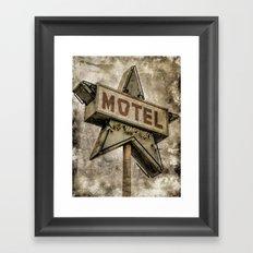 Vntage Grunge Star Motel Sign Framed Art Print
