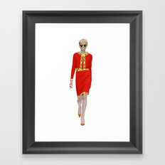 Runway Moschino Girl McDonalds Framed Art Print
