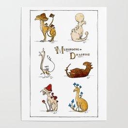 Mushroom Dragons (Fungus Draconis) Poster