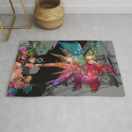 Palm Tree in New York Rug