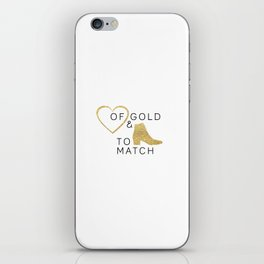 Heart of Gold & Boots to Match iPhone Skin