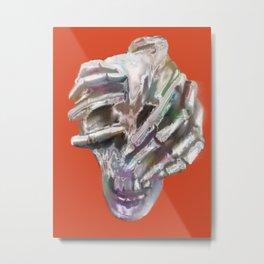 Skeleton Head Metal Print