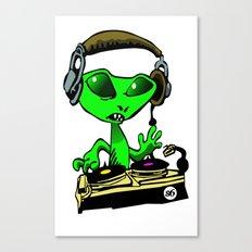 Alien DJ Canvas Print