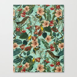 FLORAL AND BIRDS XIII Canvas Print