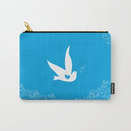 Love and Freedom - Blue Carry-All Pouch
