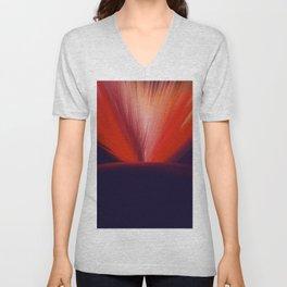 Flaming Planet Unisex V-Neck