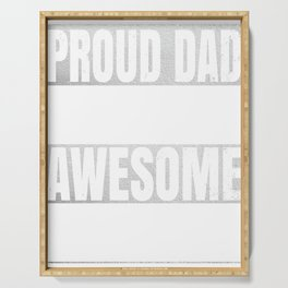 Proud Dad Of An Awesome Accountant Gift - Funny Accounting product Serving Tray