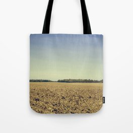 Lonely Field in Blue Tote Bag