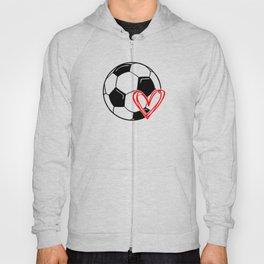 Love Soccer Heart Hoody