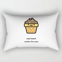 JUST A PUNNY ICE CREAM JOKE! Rectangular Pillow