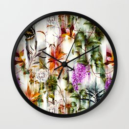Abstract Motion Blur Floral Botanical Wall Clock