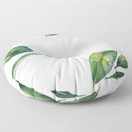 Green Leaves Floor Pillow