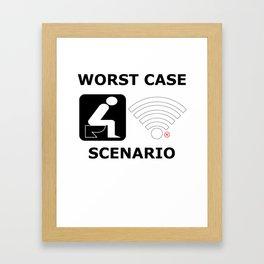 WLAN toilet offline humor funny gift Framed Art Print