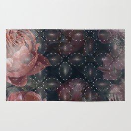Floral Abstract Pattern Design Rug