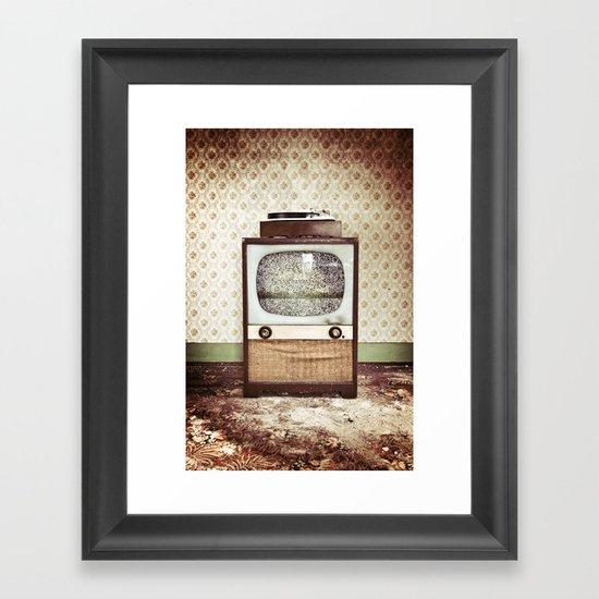Vintage Entertainment Center Framed Art Print