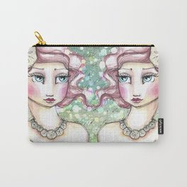 Twin Mermaids with Sand Dollars Carry-All Pouch