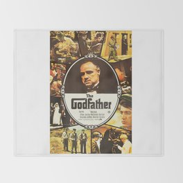 The Godfather, vintage movie poster Throw Blanket