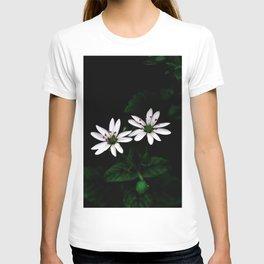 Botanical Still Life Little White Flowers T-shirt