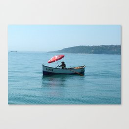 One Man and His Boat Canvas Print