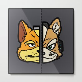 Old & New Fox McCloud Metal Print
