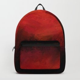 Abstract Red Black Dark Matter Backpack