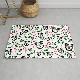 CHRISTMAS WITH YOUR ENGLISH BULLDOG AND CHRISTMAS GIFT WRAPPED FROM MONOFACES IN 2020 Rug