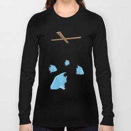 Papercraft Fish Mobile Long Sleeve T-shirt