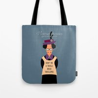 literature Tote Bags featuring Victorian Literature - Trollope by Natallia Pavaliayeva