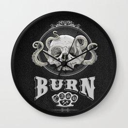 OldSkull Burn & Cash Wall Clock