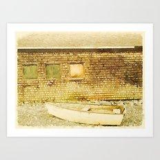 Rockland, Me Dory Art Print