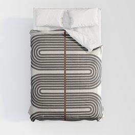 Retro, Mid-Century Line Art Comforters