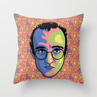 keith haring Throw Pillows featuring Haring by guissëpi