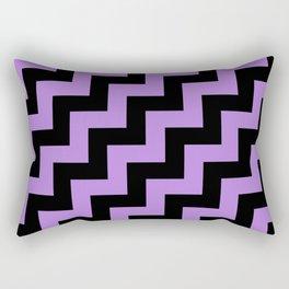 Black and Lavender Violet Steps RTL Rectangular Pillow