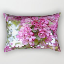 Deep pink blossom Rectangular Pillow