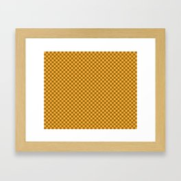brown and tan checkers Framed Art Print