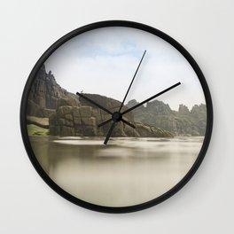 Pedn Vounder Beach, South Cornwall Wall Clock