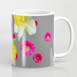 FUCHSIA FLOWERS & YELLOW DAFFODILS DESIGN Coffee Mug