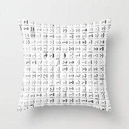 300 smileys| 300 fonts Throw Pillow