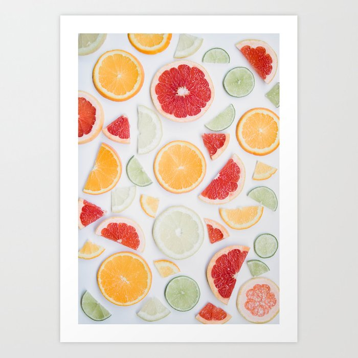 citrus fresh Art Print