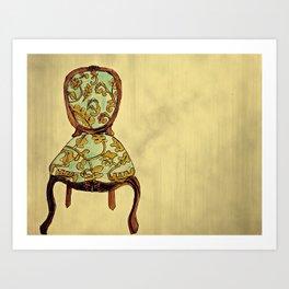 have a seat. Art Print