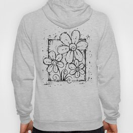 Scribble Doodle Flowers No.5A by Kathy Morton Stanion Hoody