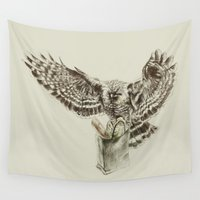 eagle Wall Tapestries featuring Eagle by Anna Shell