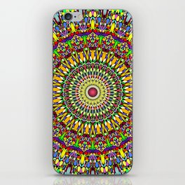 Happy Colorful Jungle Garden Mandala iPhone Skin