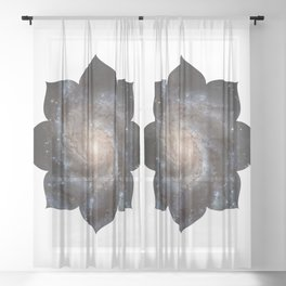Lotus Universe Meditation Sheer Curtain