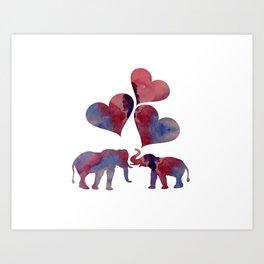 Elephant Art Art Print