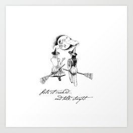 Witches Sitting Crooked Art Print