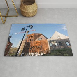 Lille architecture blue sky Rug