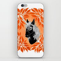 unicorn iPhone & iPod Skins featuring Unicorn by Laura Preston Illustration