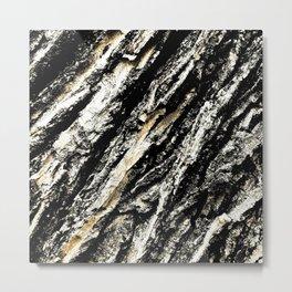 Diagonal Tree Bark Texture Metal Print