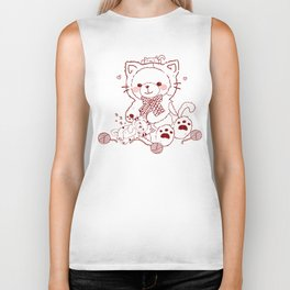 The Adventures of Bear and Baby Bear-Cats Biker Tank
